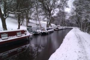 Mon & Brec canal in the snow