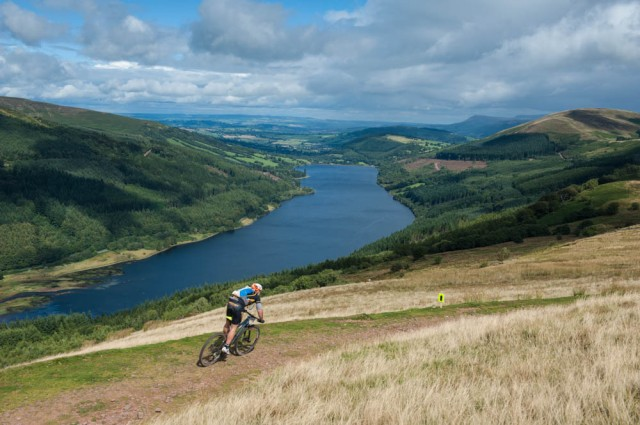 Mt Bike above Talybont Reservoir