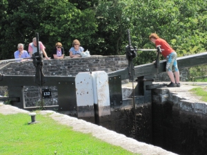Watching-the-fun-at-Llangynidr-Locks-Monmouthshire-Brecon-Canal-6