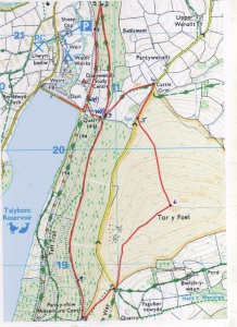 Tor-y-foel race route