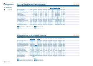 Mon-Sat Bus Timetable