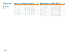 Sunday Bus Timetable