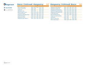 Sunday Bus Timetable